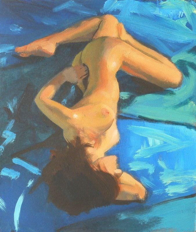 """""""Blue twist"""" original fine art by Peter Orrock"""
