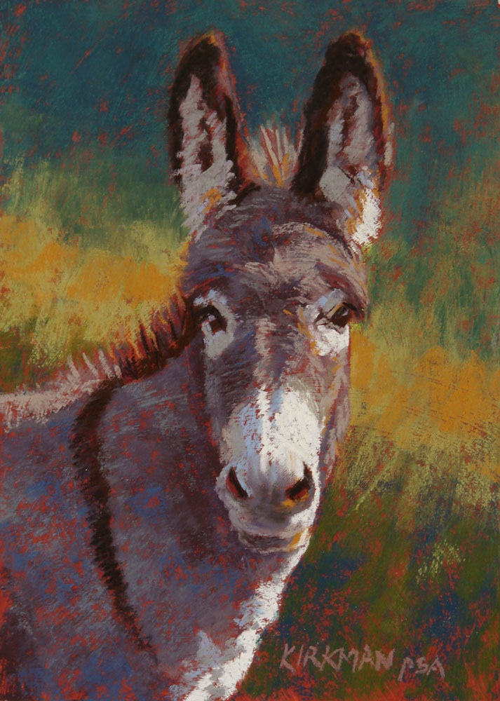 """Eeyore"" original fine art by Rita Kirkman"