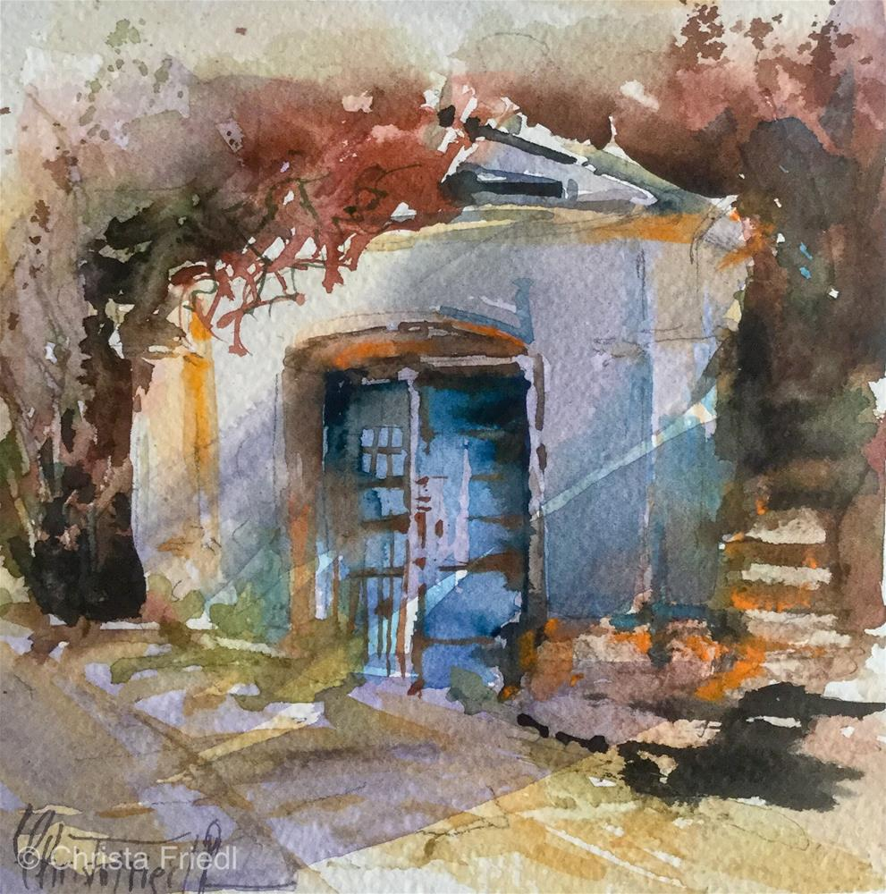"""Wine Cellar"" original fine art by Christa Friedl"