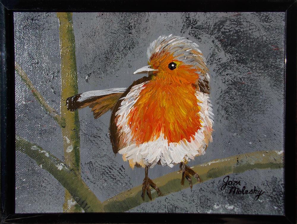 """""""Robin Fledgling II"""" original fine art by Jan Molesky"""