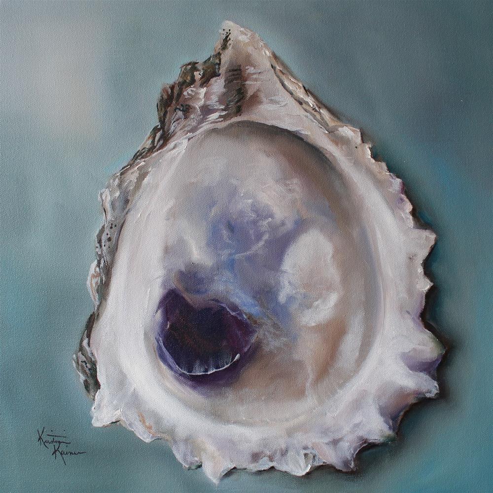 """""""Bay Oyster"""" original fine art by Kristine Kainer"""
