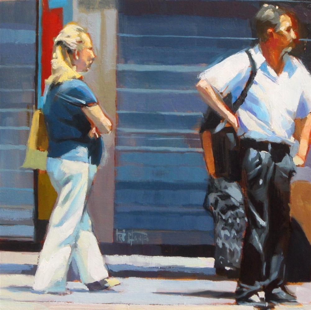 """""""Bus stop"""" original fine art by Víctor Tristante"""