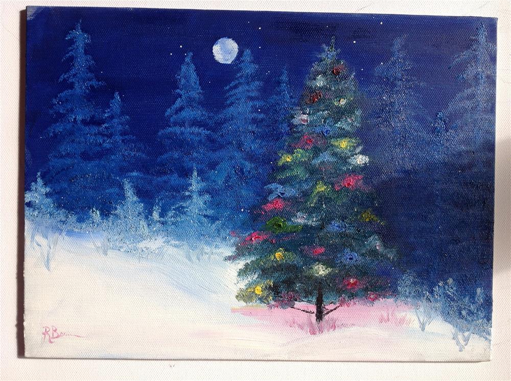 """Christmas Night"" original fine art by Rose Brenner"