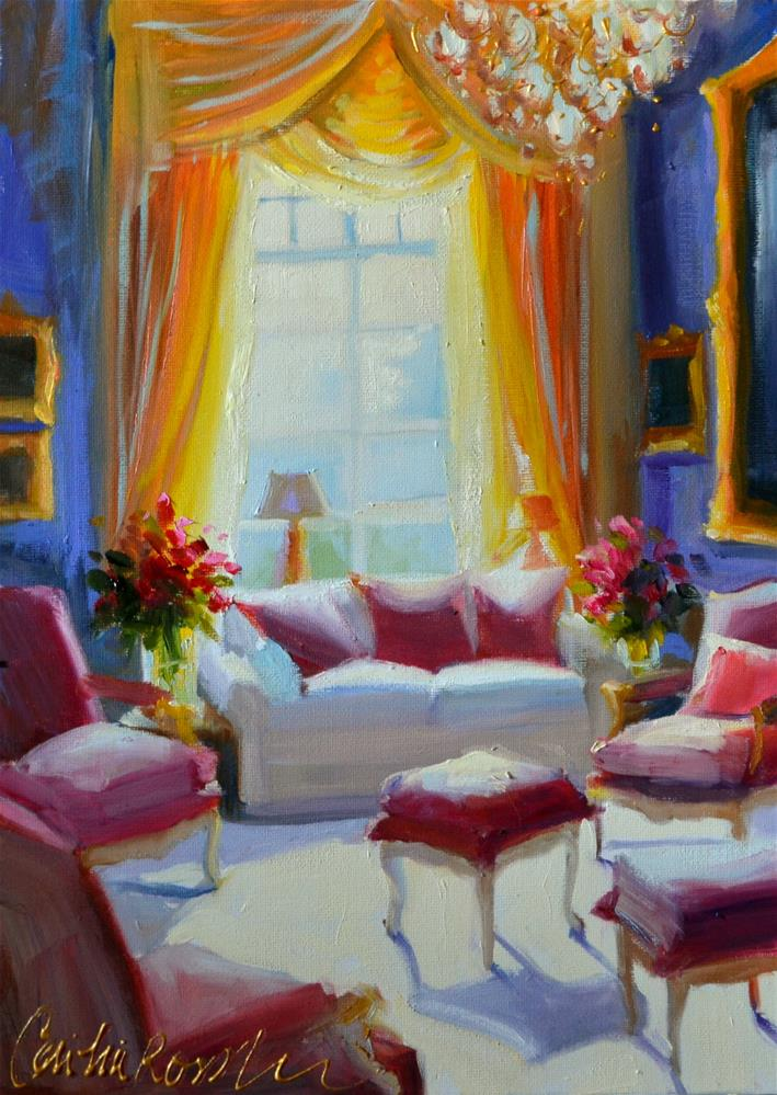 """FRENCH INTERIOR"" original fine art by Cecilia Rosslee"