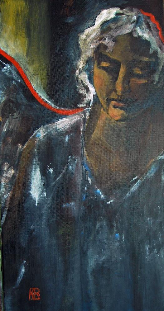 """Between the worlds"" original fine art by Kathleen Barnes"
