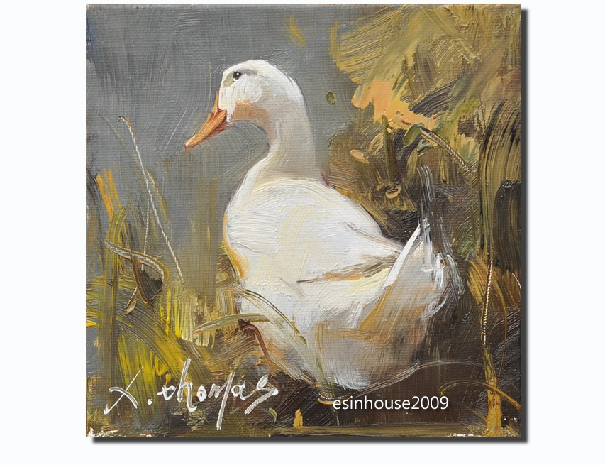 """White Duck"" original fine art by Thomas Xie"