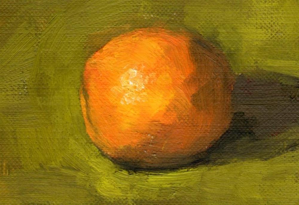 """Orange"" original fine art by Marlene Lee"
