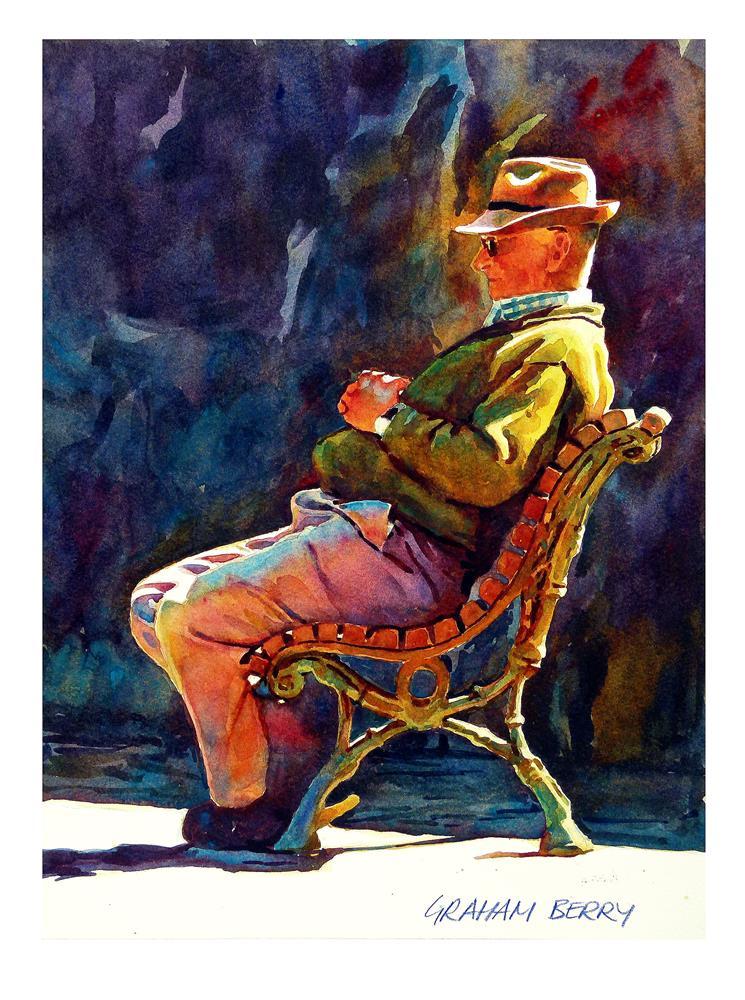 """Afternoon nap."" original fine art by Graham Berry"