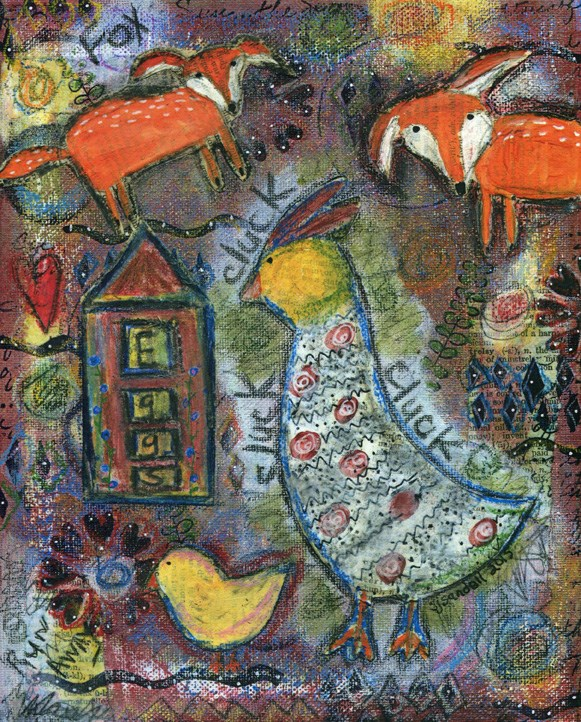 """Run Away"" original fine art by Sonja Sandell"