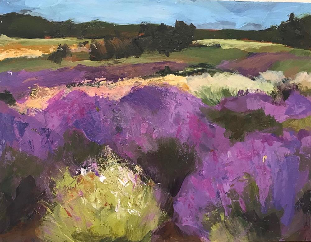 """930 Lavender Fields and 932 Lavender Fields, Too"" original fine art by Diane Campion"