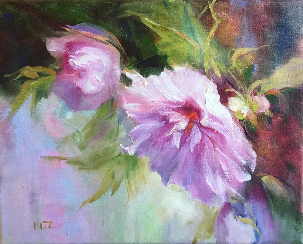 """Purple Rose of Sharon"" original fine art by Charlotte Fitzgerald"