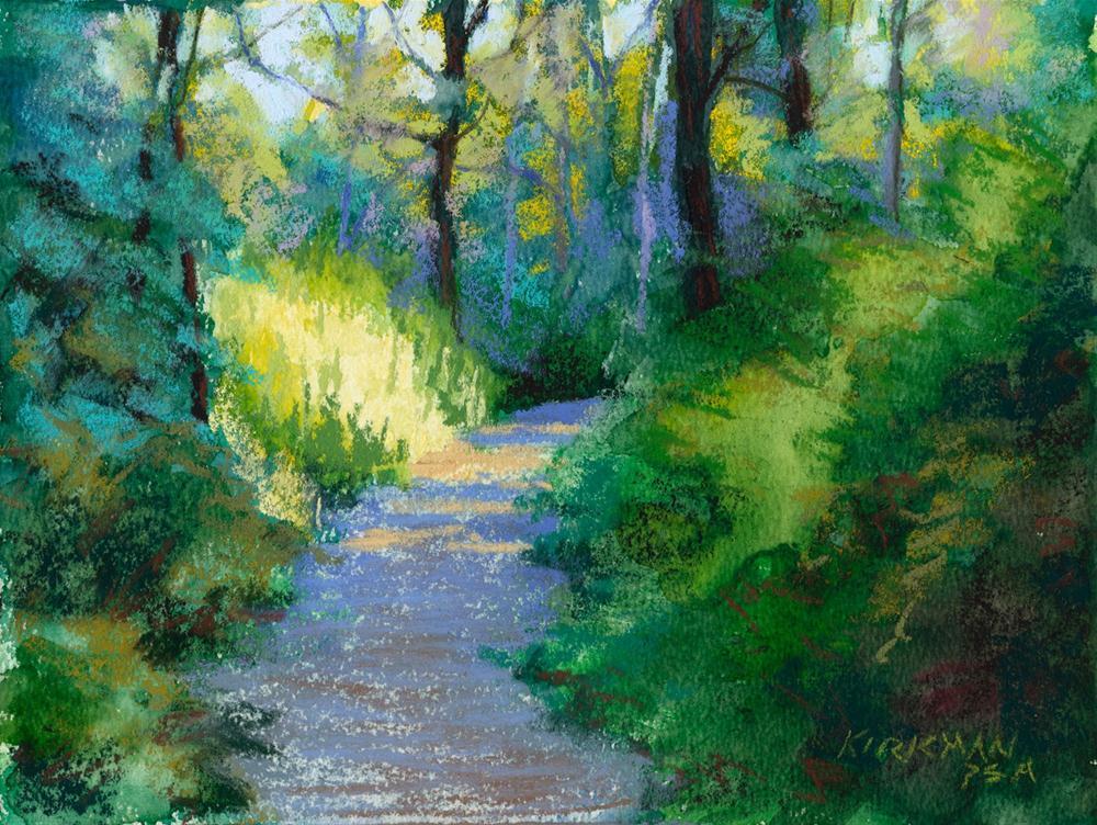 """""""Park Trail #24"""" original fine art by Rita Kirkman"""