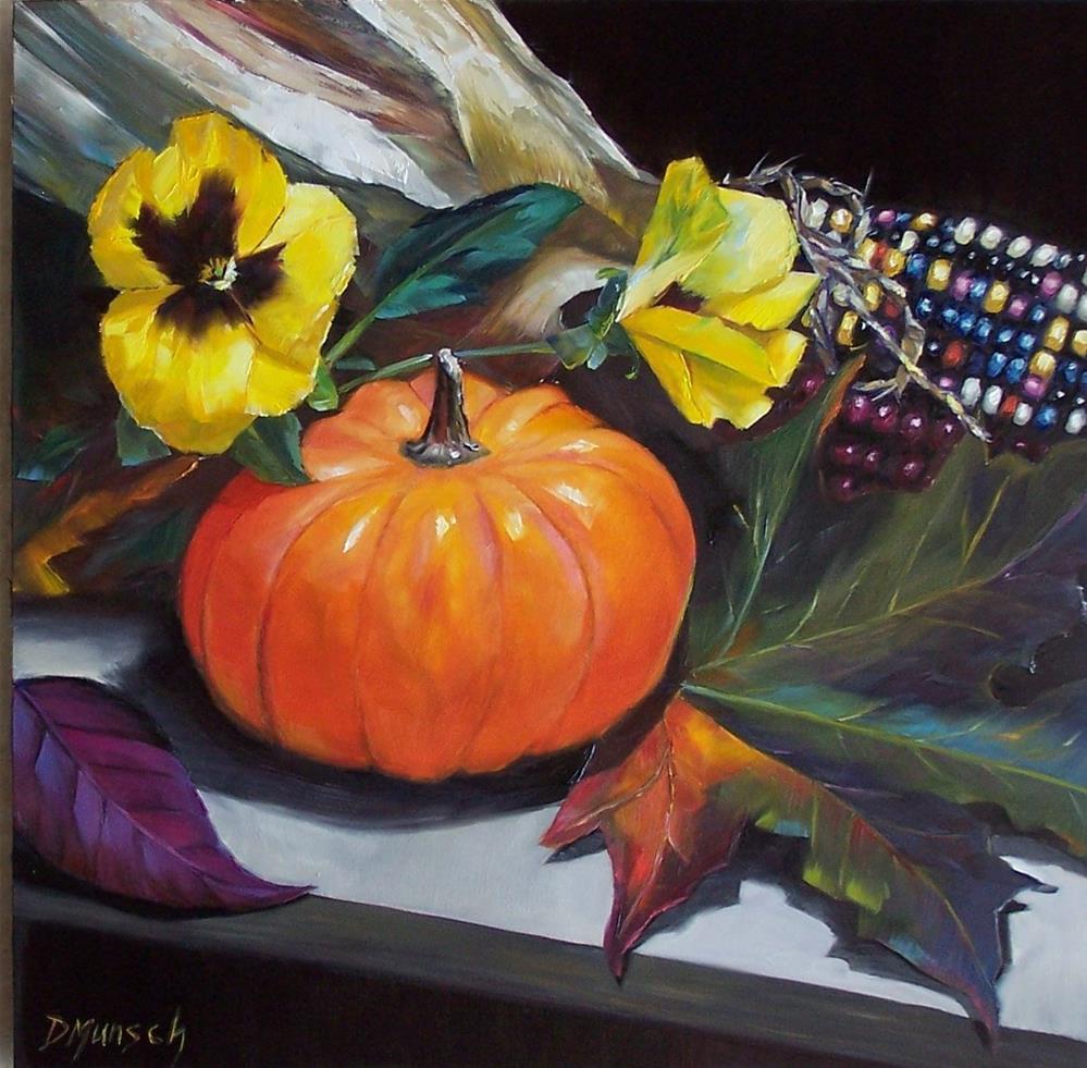 """""""Pumpkin Gourd"""" original fine art by Donna Munsch"""