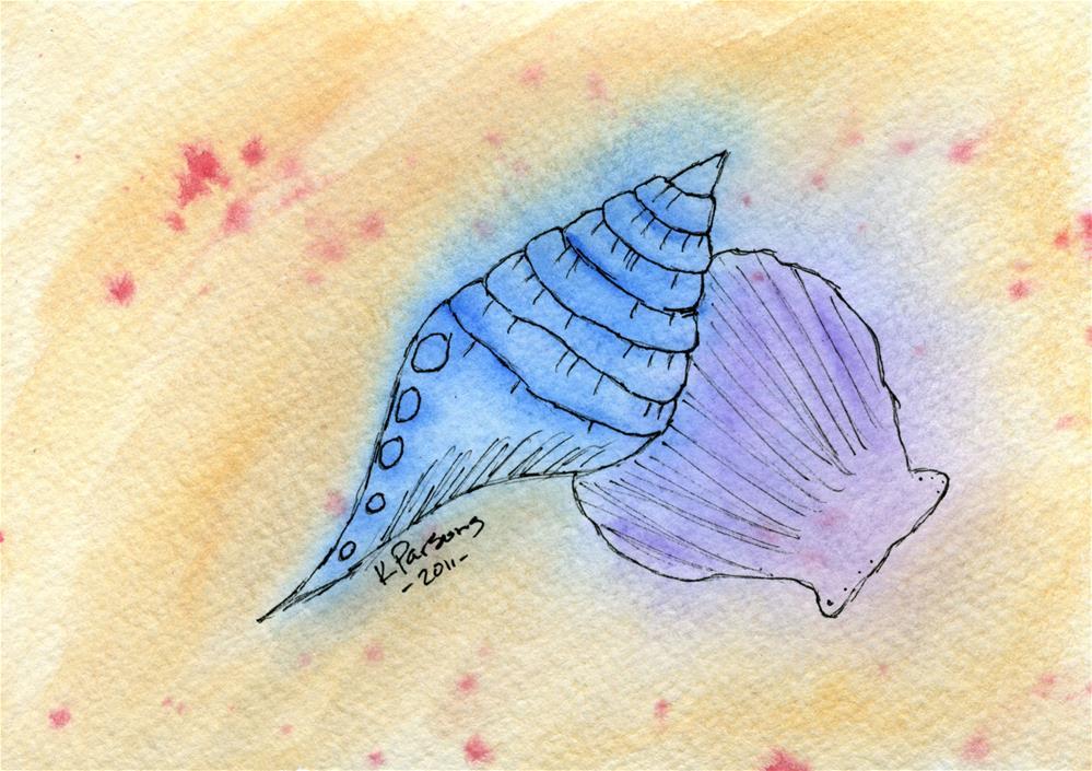 """Seashells"" original fine art by Kali Parsons"