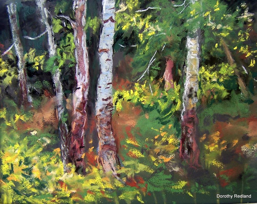 """My little spot in the woods"" original fine art by Dorothy Redland"