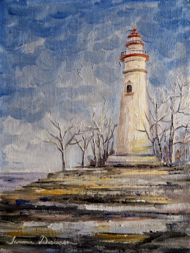 """""""Marblehead Lighthouse"""" original fine art by Tammie Dickerson"""