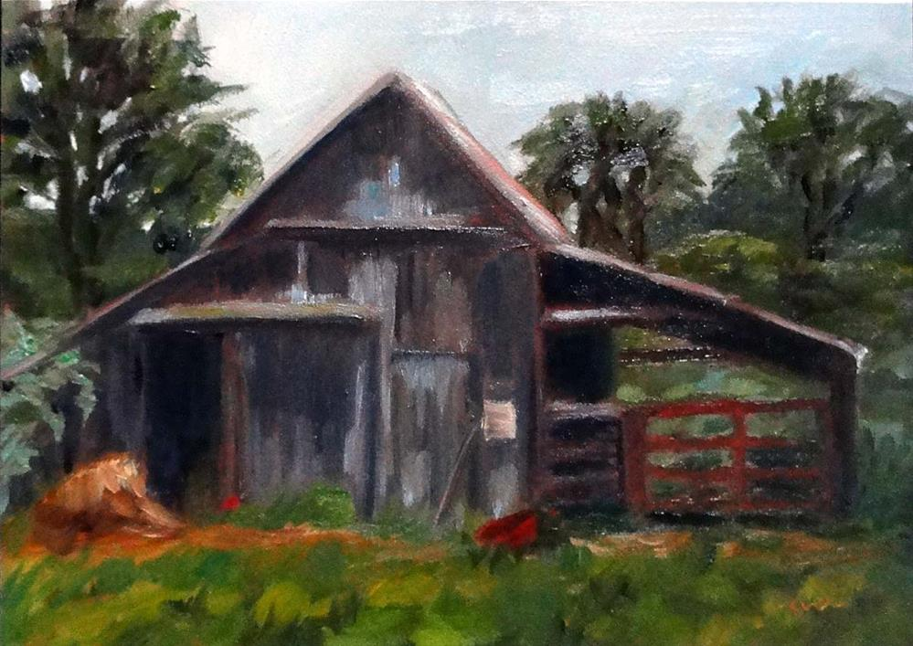"""Barn, Morning Chores Await"" original fine art by Cietha Wilson"