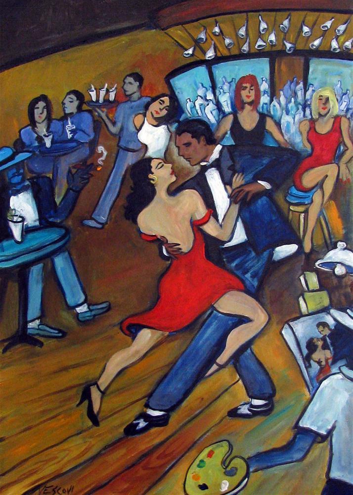 """Red Hot Tango"" original fine art by Valerie Vescovi"