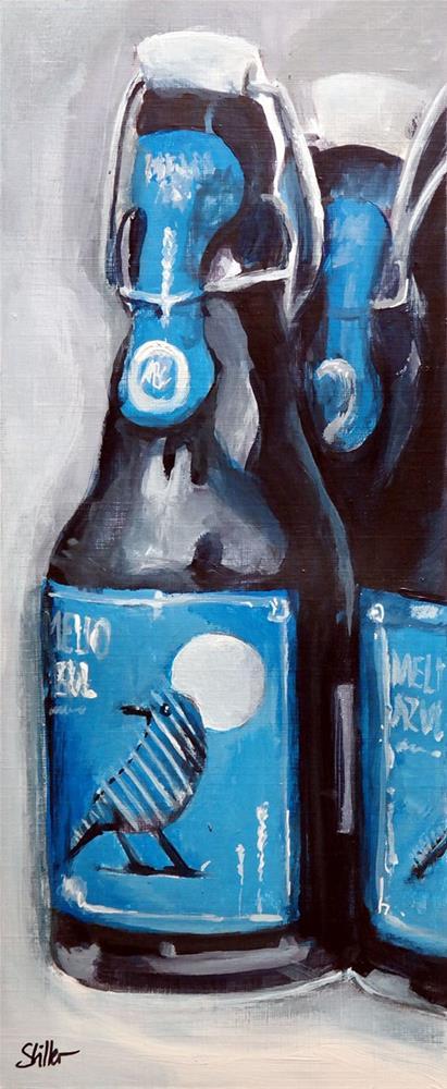 """""""2312 Blue Rock Thrush"""" original fine art by Dietmar Stiller"""