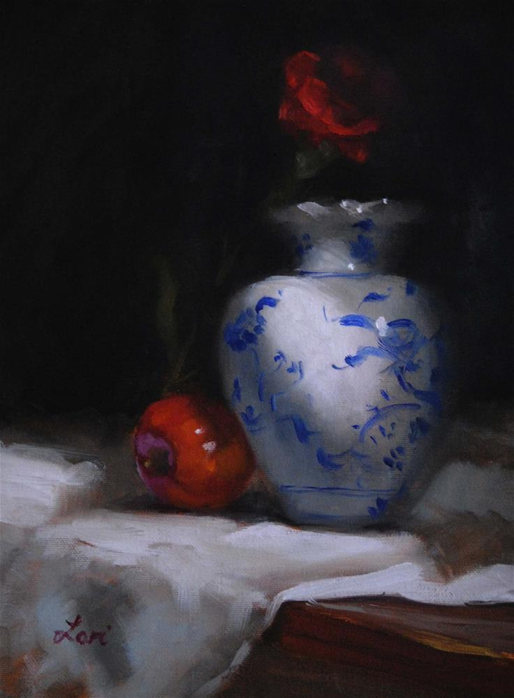 """""""Still Life with Red"""" original fine art by Lori Jacobs - Farist"""