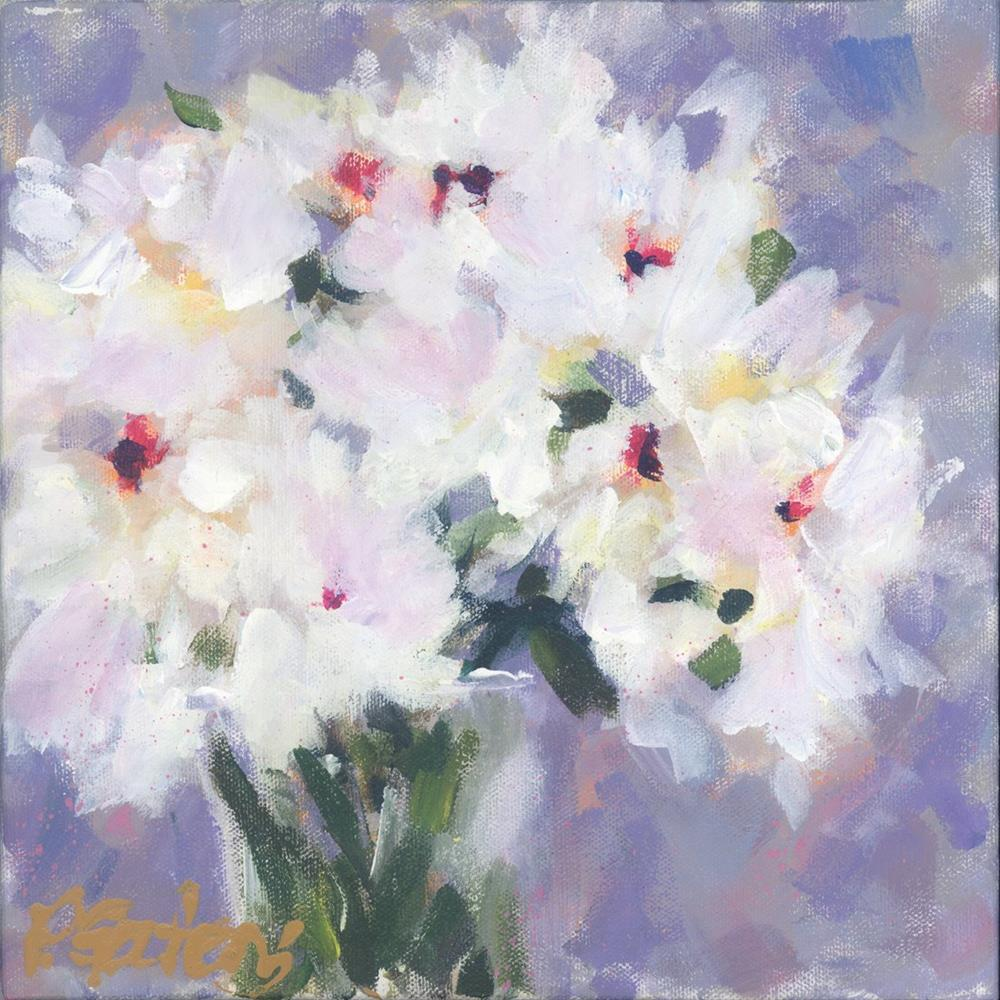 """Mini White Peonies"" original fine art by Pamela Gatens"