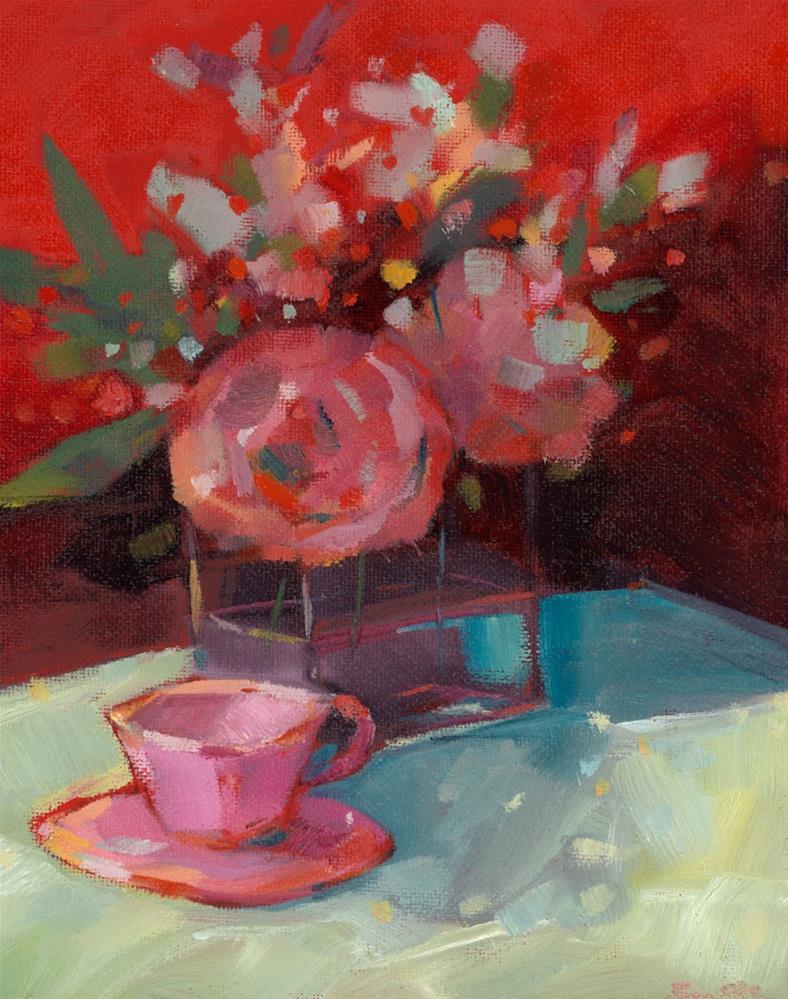 """0821: Pink Dapple"" original fine art by Brian Miller"