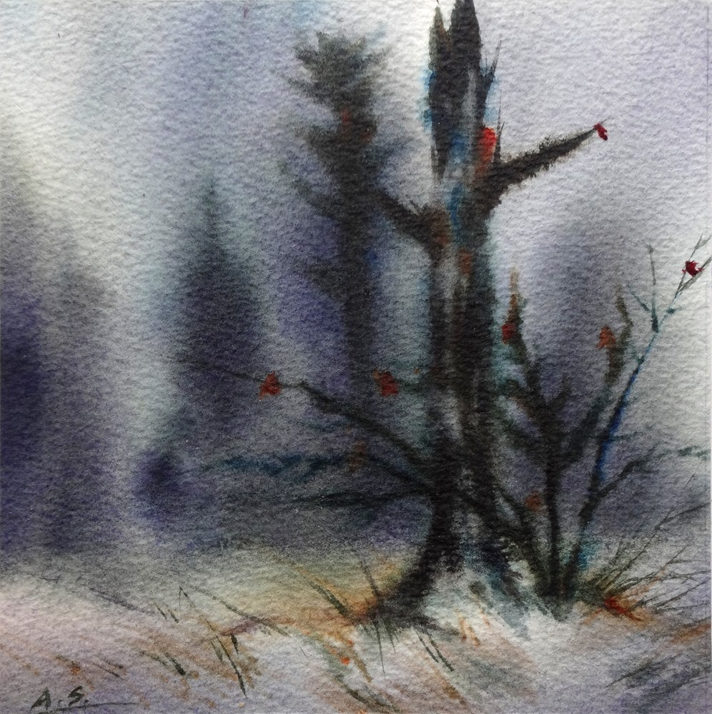 """Winter Solstice"" original fine art by Arena Shawn"