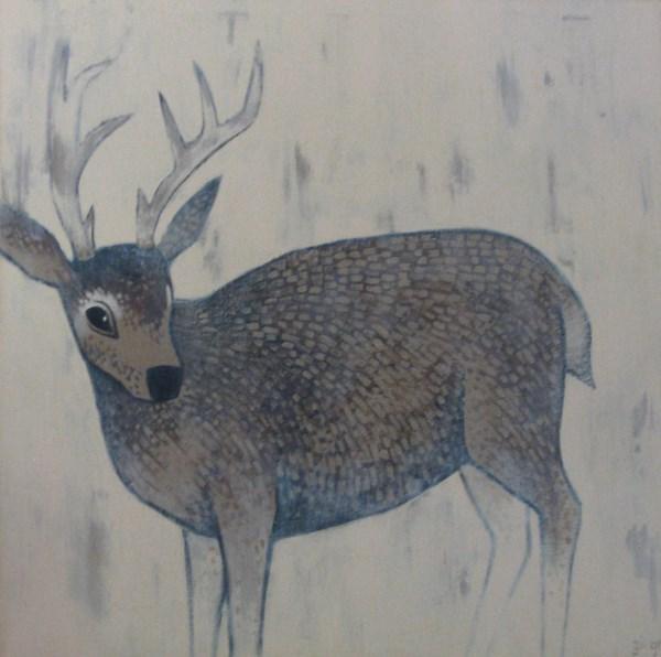 """Deer Abstract"" original fine art by Ginger Pena"