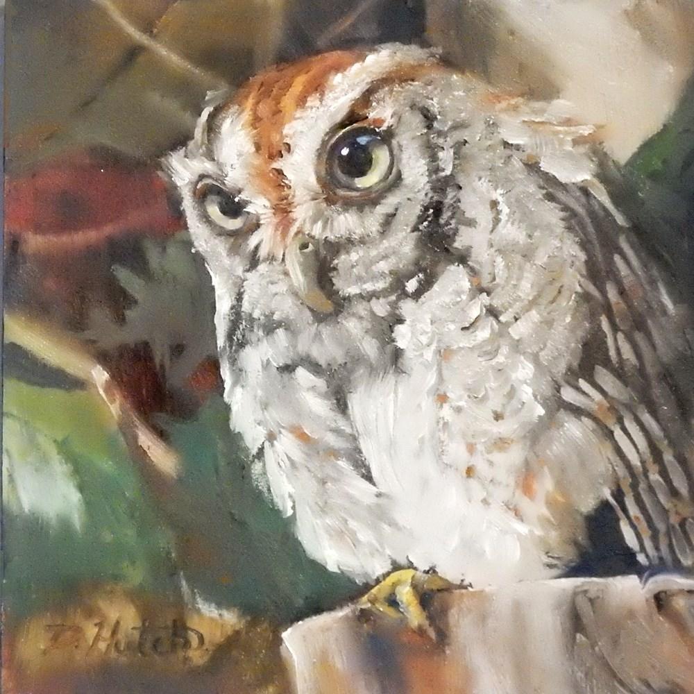 """Owl #1"" original fine art by Diane Hutchinson"