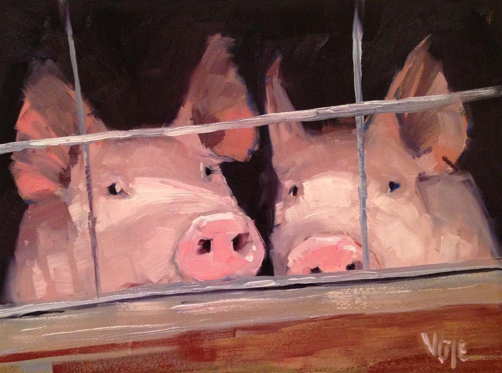 """#142 Pen Pals"" original fine art by Patty Voje"