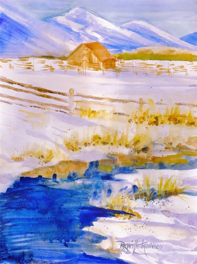 """River Blue"" original fine art by Reveille Kennedy"