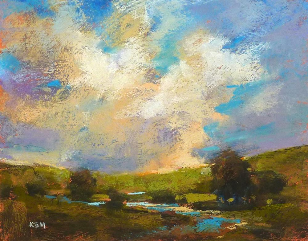 """Three Ways to Improve Your Sky and Cloud Paintings"" original fine art by Karen Margulis"