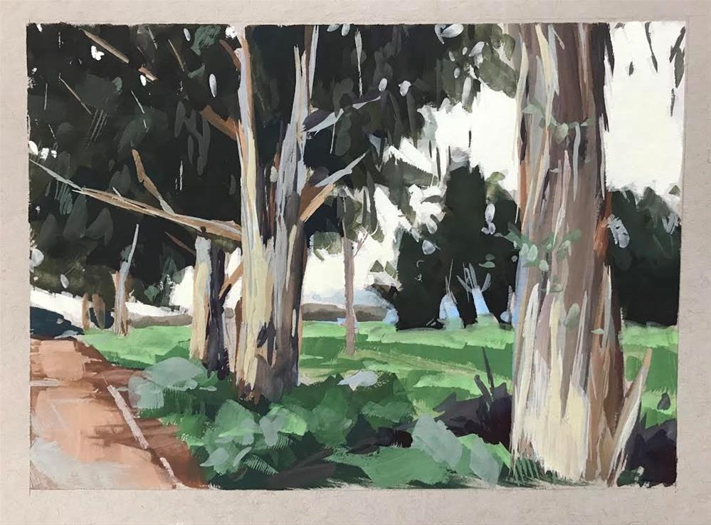 """Carpinteria Eucalyptus"" original fine art by Sharon Schock"