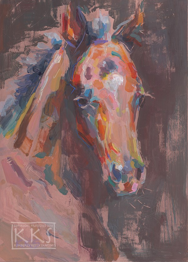 """""""Exquisite (Little One II), a Painting on Copper"""" original fine art by Kimberly Santini"""
