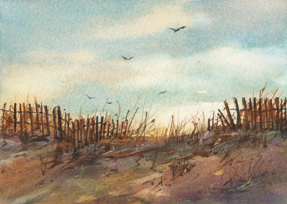 """Farewell"" original fine art by Linda Henry"