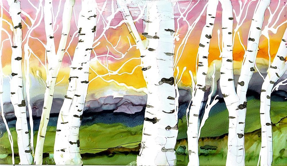"""""""Birch Series 4"""" original fine art by Kristen Dukat"""