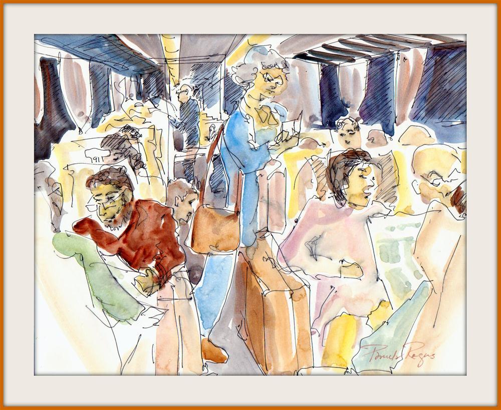"""""""Roman Commute"""" original fine art by Pamela Jane Rogers"""