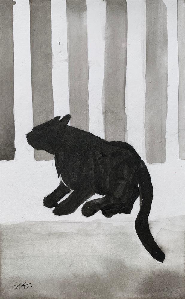 """Cat 8"" original fine art by Jean Krueger"