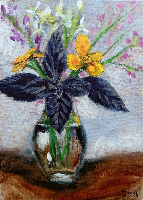 """Purple And Gold"" original fine art by Dalan Wells"