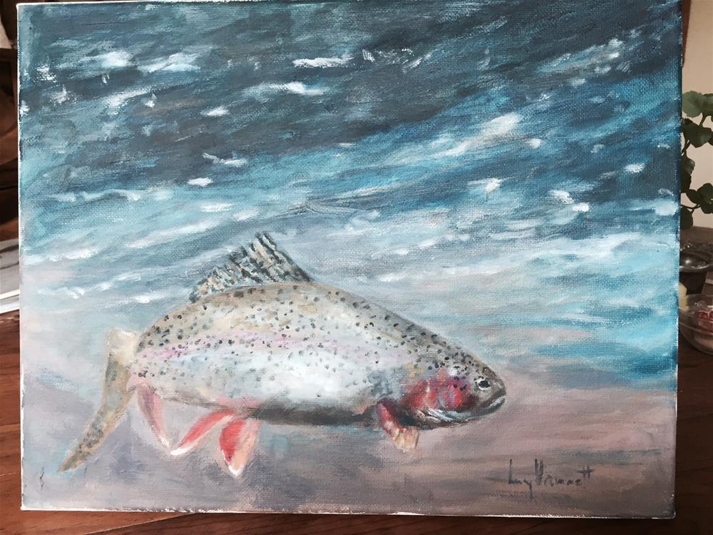 """""""WET and WILD"""" original fine art by Lucy Hammett"""
