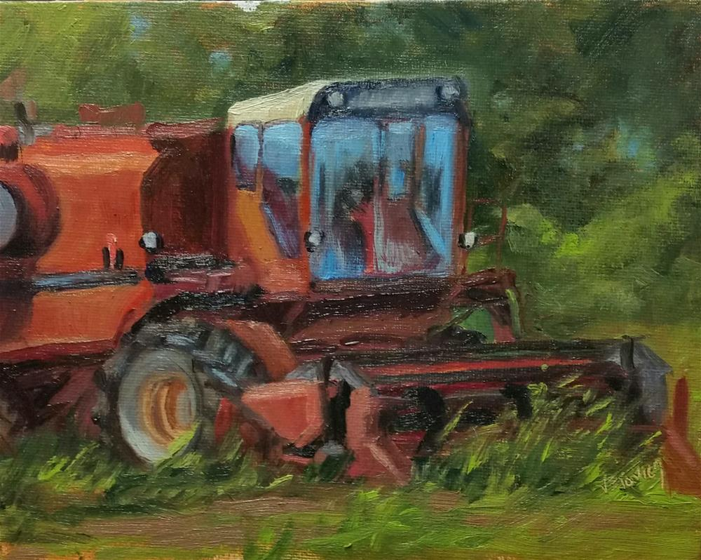 """International Harvester-en plein air"" original fine art by Veronica Brown"