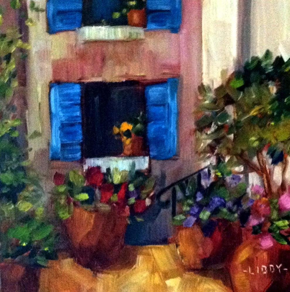 """""""Tuscan Alley"""" original fine art by Libby Anderson"""