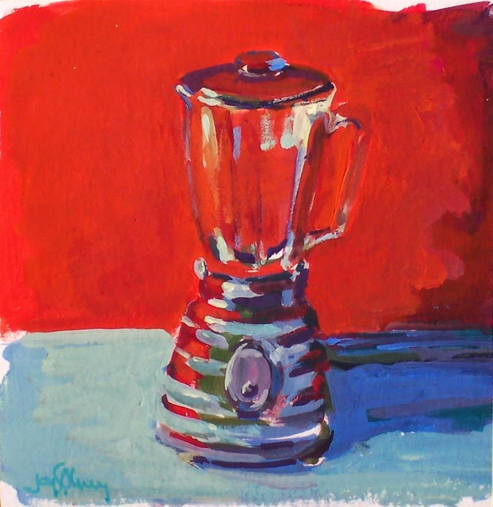 """Blender,still life, 5x5,gouache,price$50"" original fine art by Joy Olney"