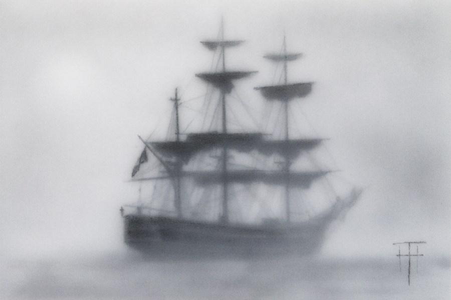 """Marooned in the Fog"" original fine art by Terri Heinrichs"