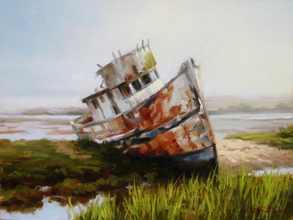 """Rusty Relic"" original fine art by Karen Werner"