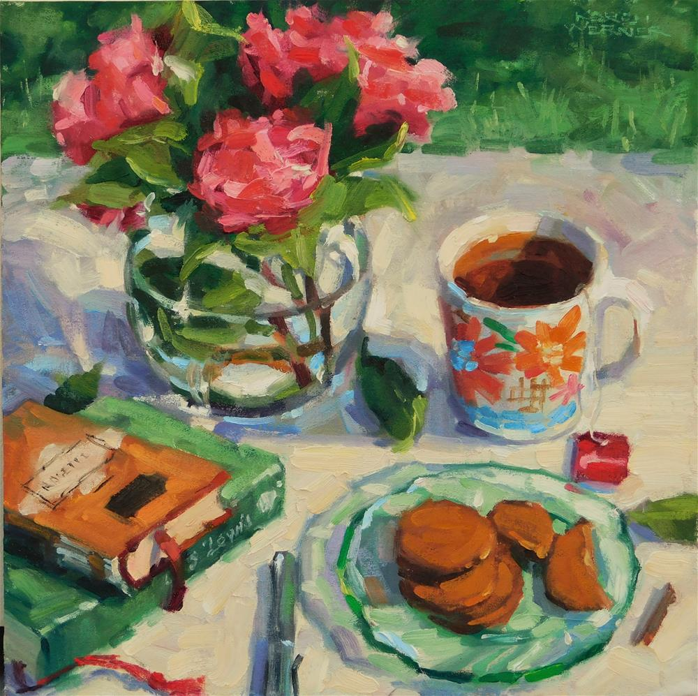 """Afternoon Tea With Lewis & Rossetti"" original fine art by Karen Werner"