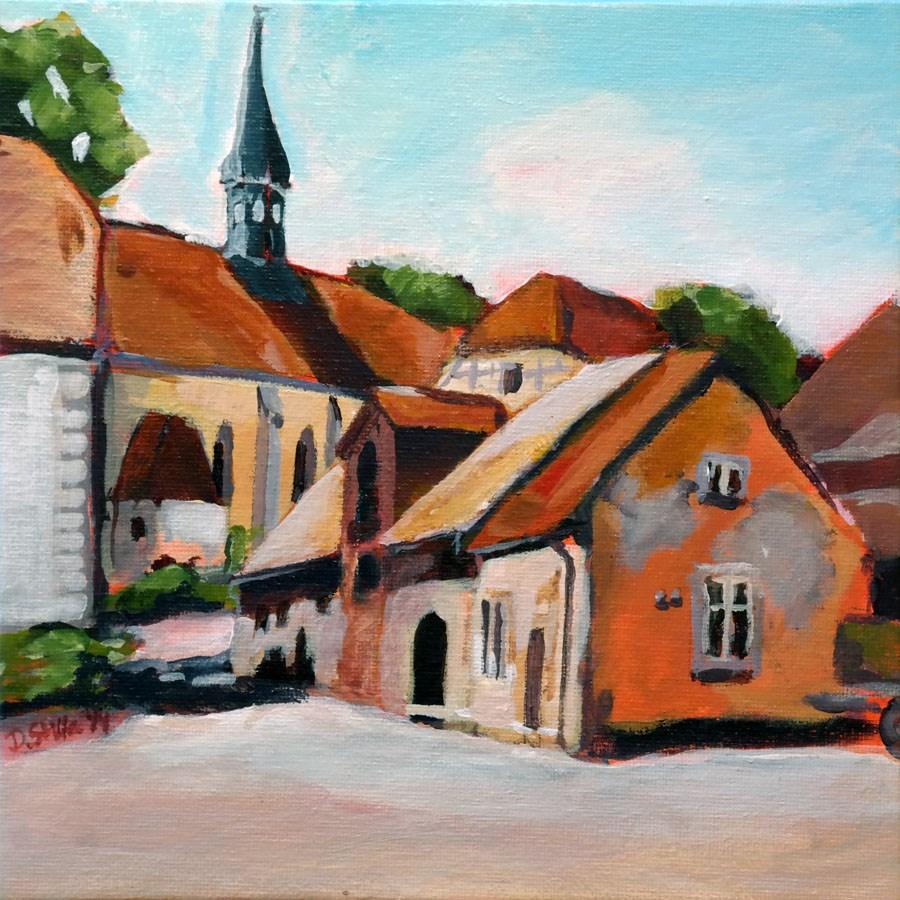 """1028 Monastery Wuelfinghausen"" original fine art by Dietmar Stiller"
