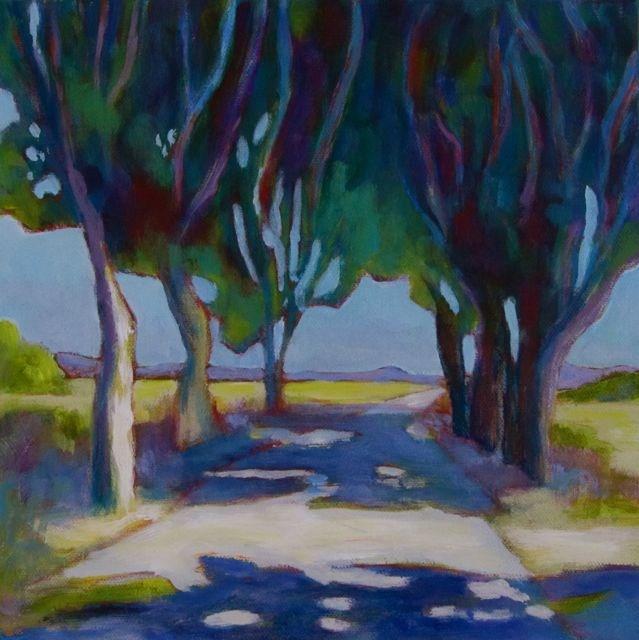 """""""Sur la Route, Encore"""" original fine art by Patricia MacDonald"""