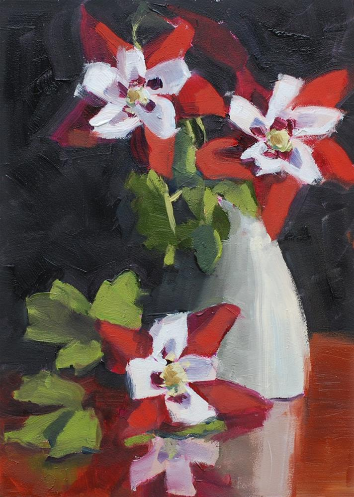 """Columbines"" original fine art by Susan McManamen"