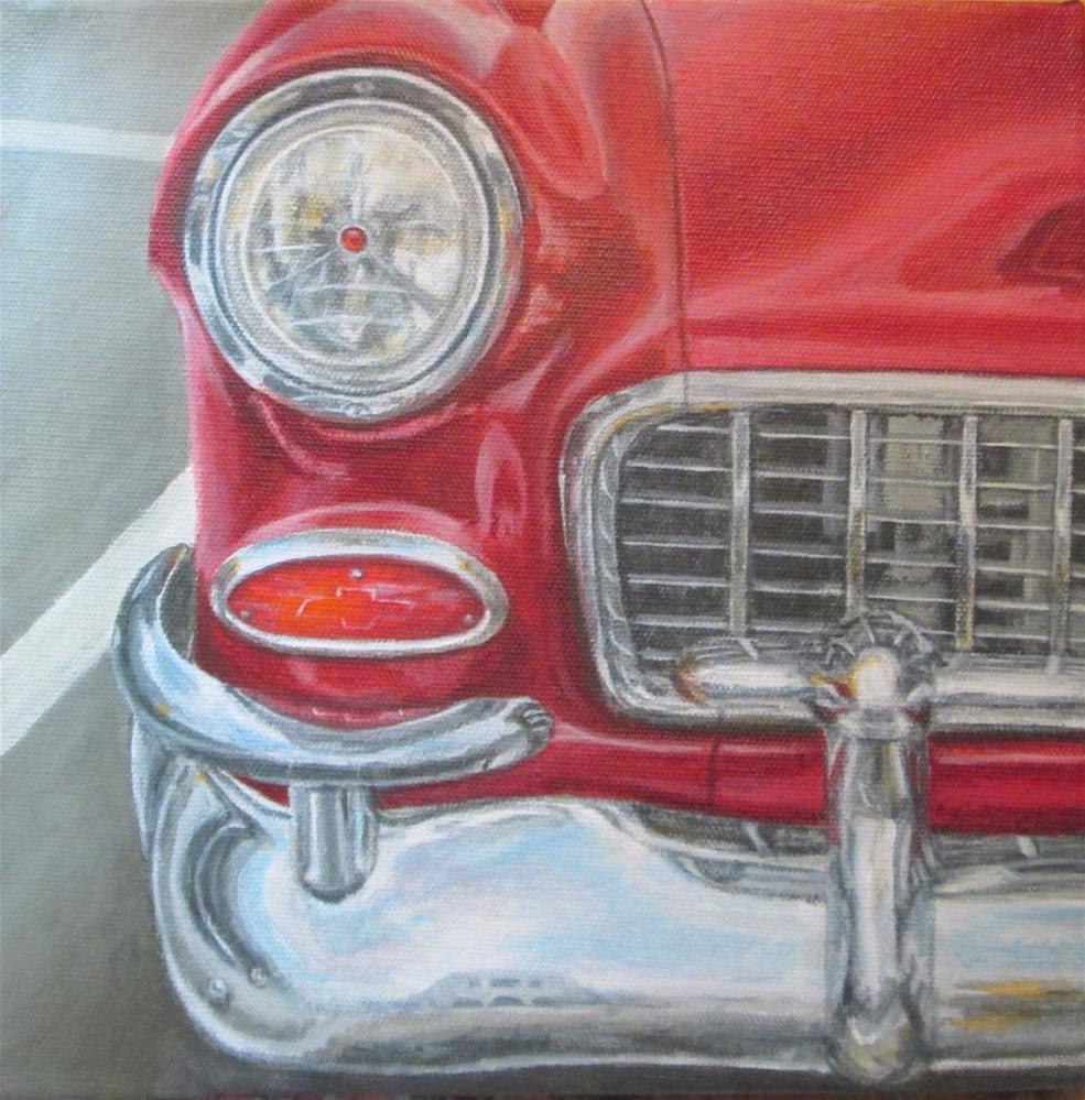 """Red Bel Air"" original fine art by Debbie Shirley"